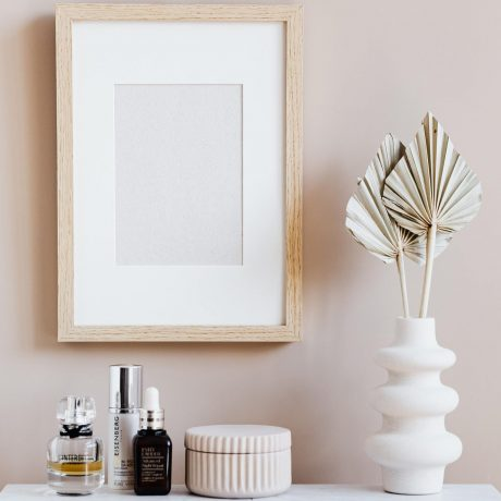 cropped frame and candle